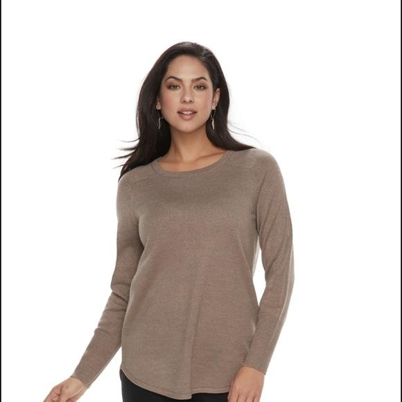 Apt. 9 Sweaters - Apt 9 Metallic Crewneck Sweater.  NWT